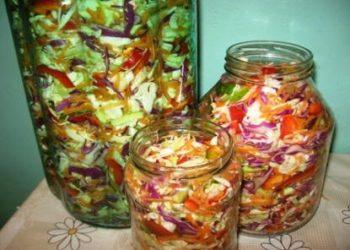 Salata de legume asortate pentru iarna
