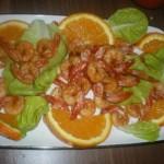 Retete de Sarbatori: Creveti cu portocala