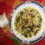 Ciorba de salata cu afumatura