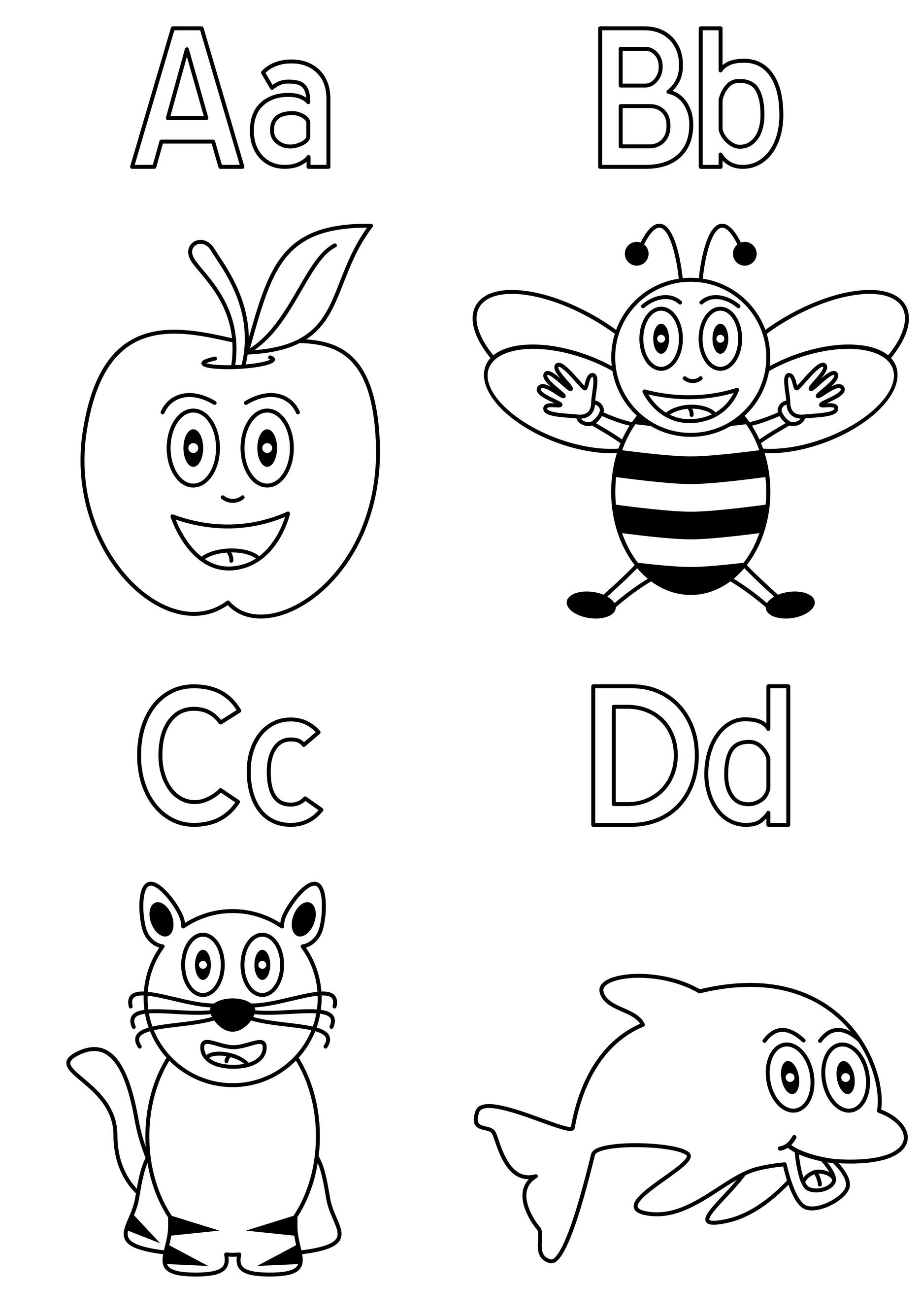 Planse De Colorat Alfabetul A B C D Sfatulparintilorro