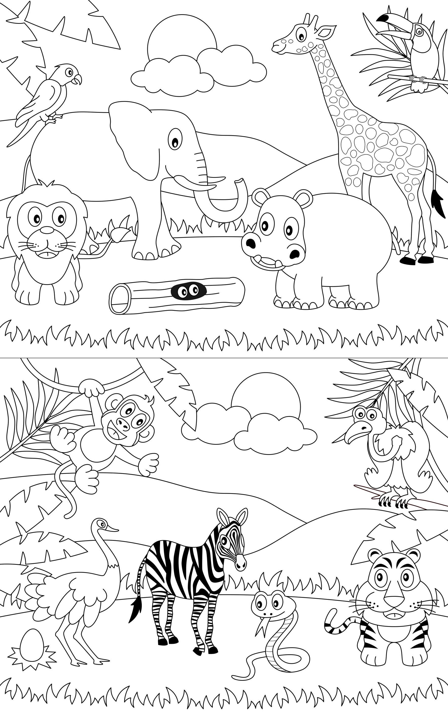 Sfatulparintilorro Planse De Colorat Animalele Junglei