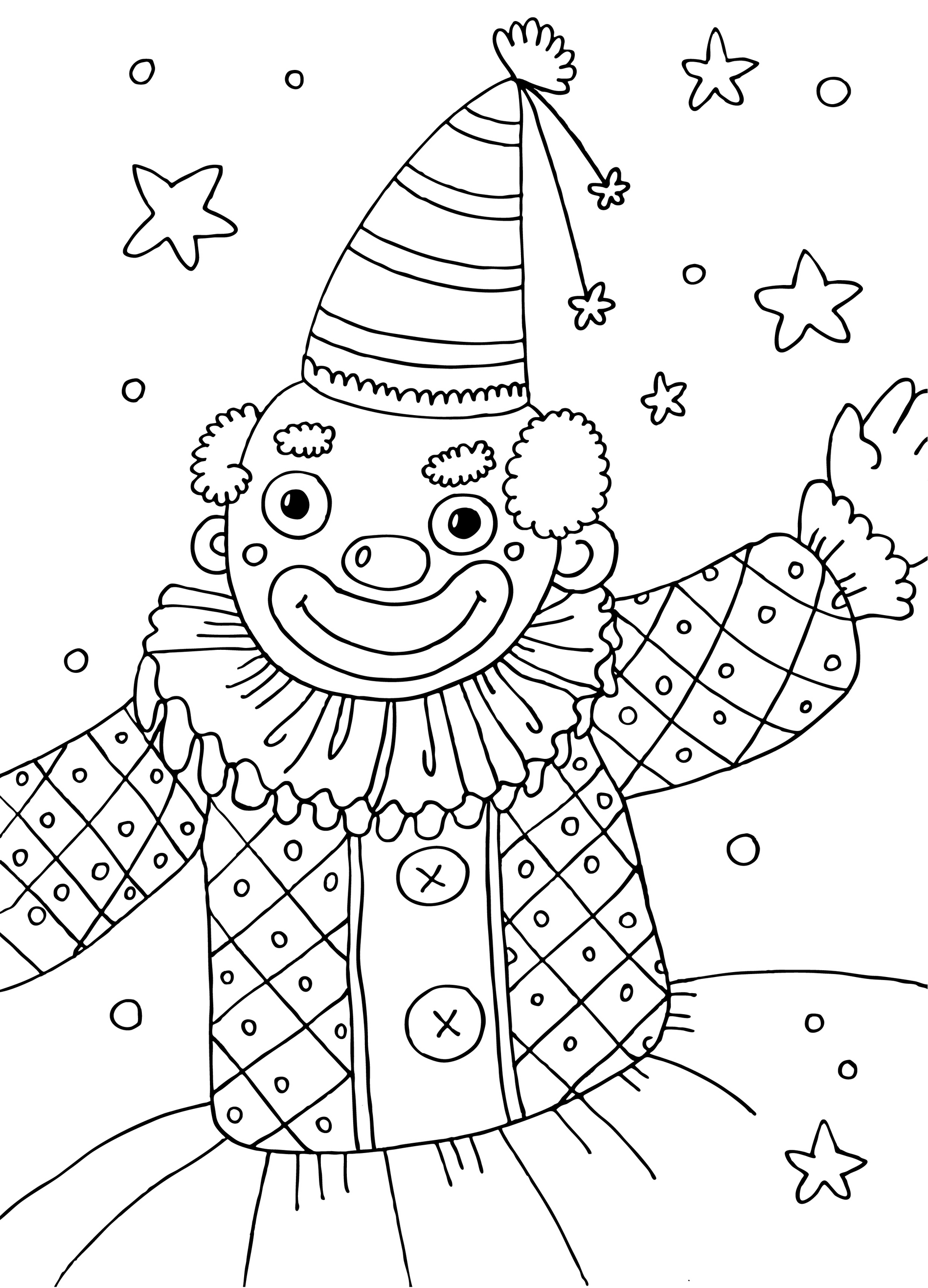 Sfatulparintilorro Planse De Colorat Pentru Copii Clownul