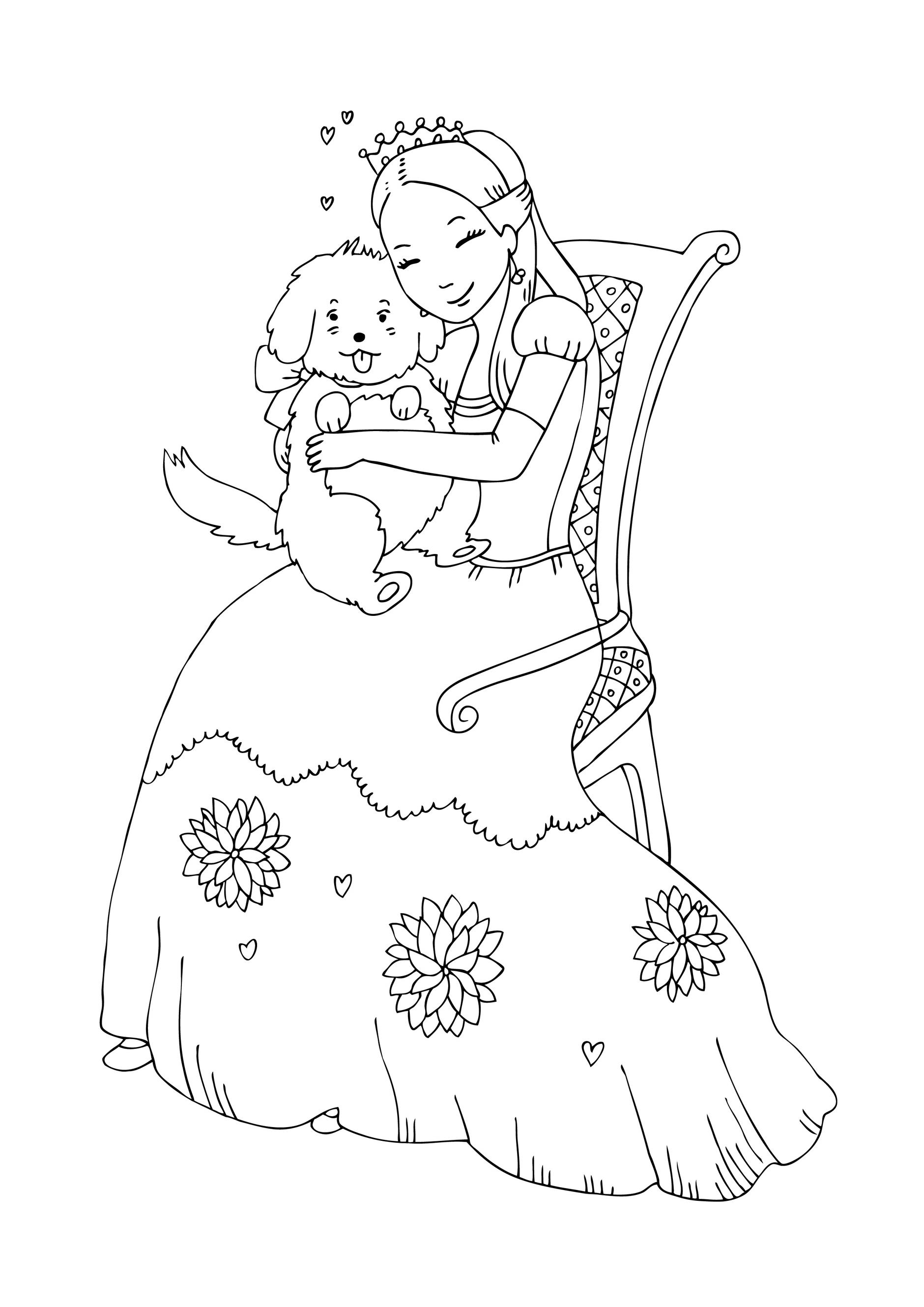 Sfatulparintilorro Planse De Colorat Printesa Si Catelul