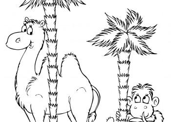sfatulparintilor.ro, planse colorat, camila si maimuta