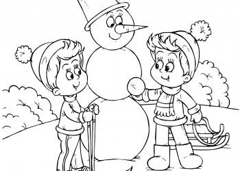 sfatulparintilor.ro_plansecolorat_copiii-fac-un-om-de-zapada