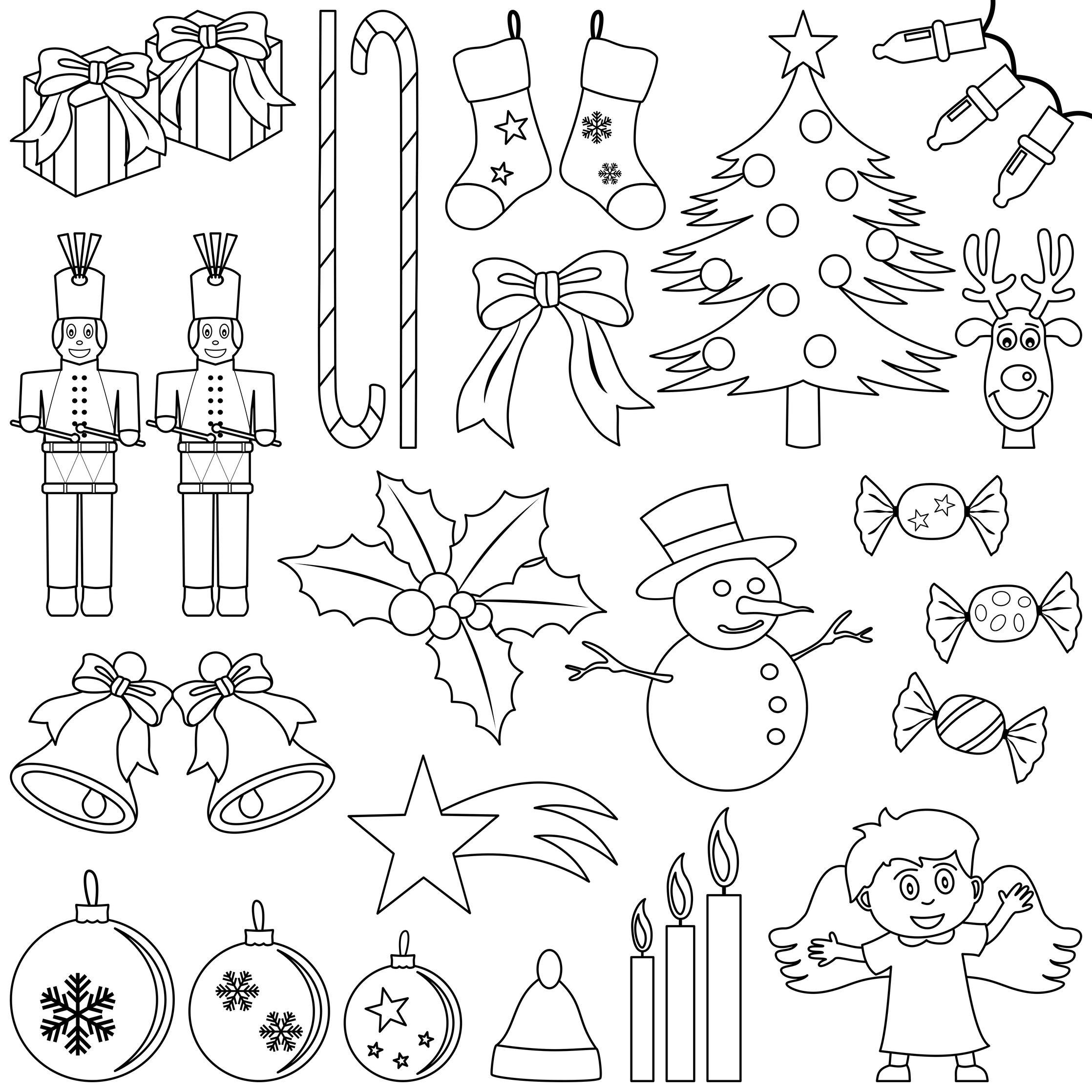 10 Noi Planse De Colorat Despre Craciun Simboluri Si