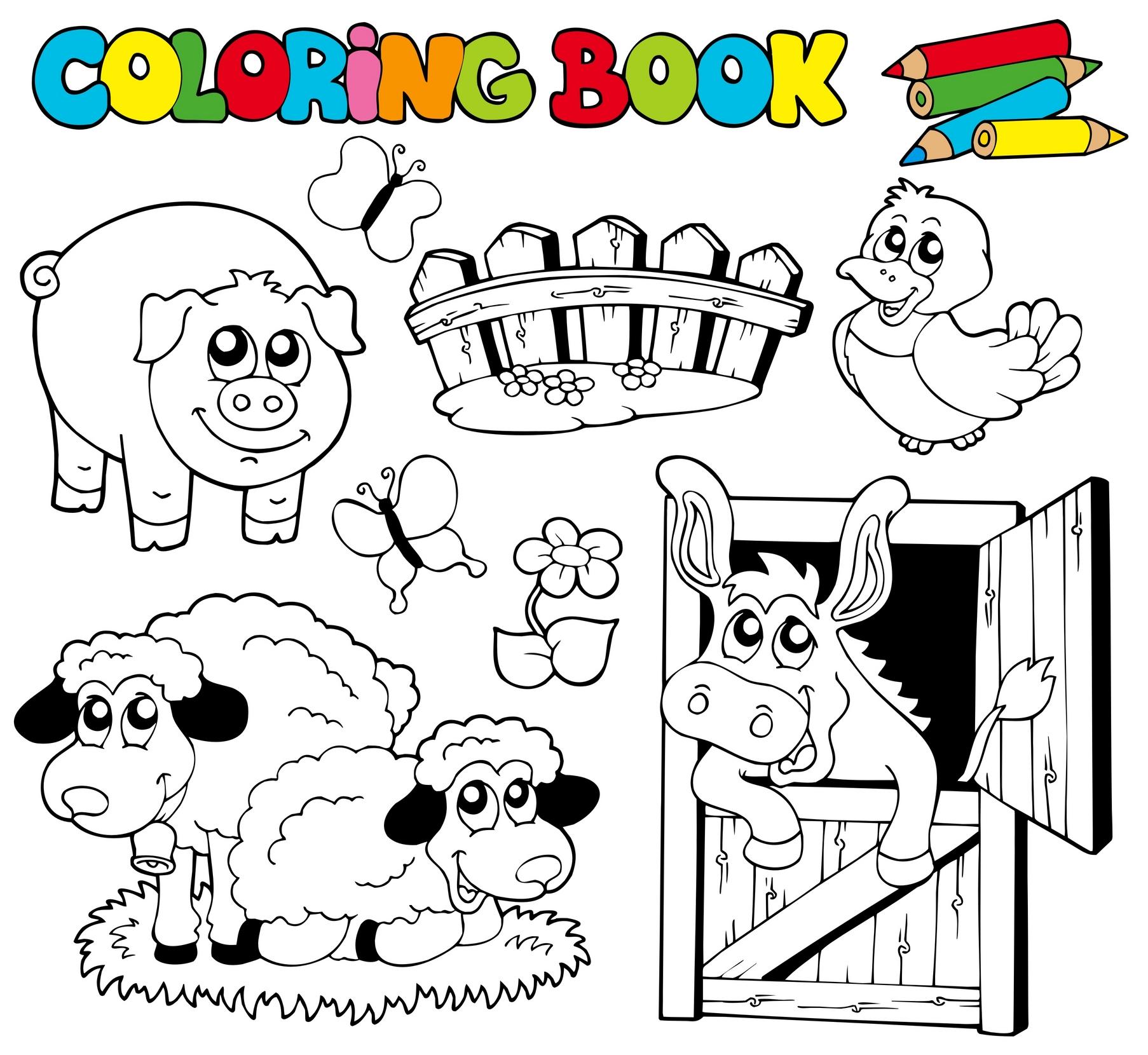 Planse de Colorat cu Animale de la Ferma Planse de Colorat cu Animale