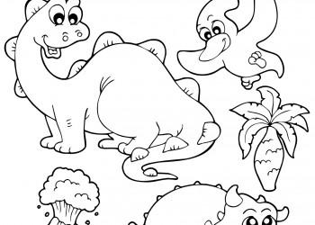 sfatulparintilor.ro, planse de colorat, animale preistorice