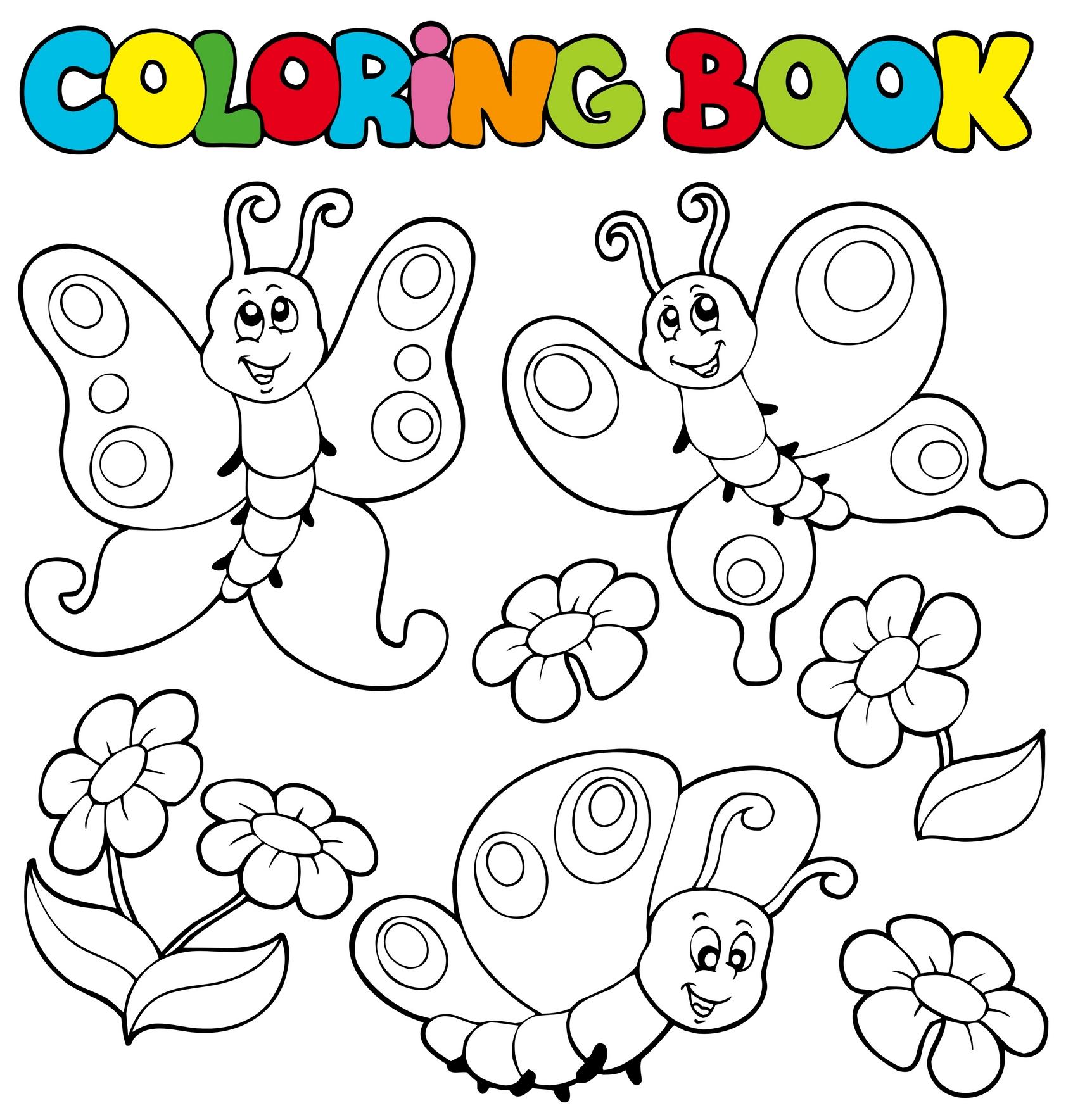 Planse De Colorat Pentru Copii Fluturi Veseli