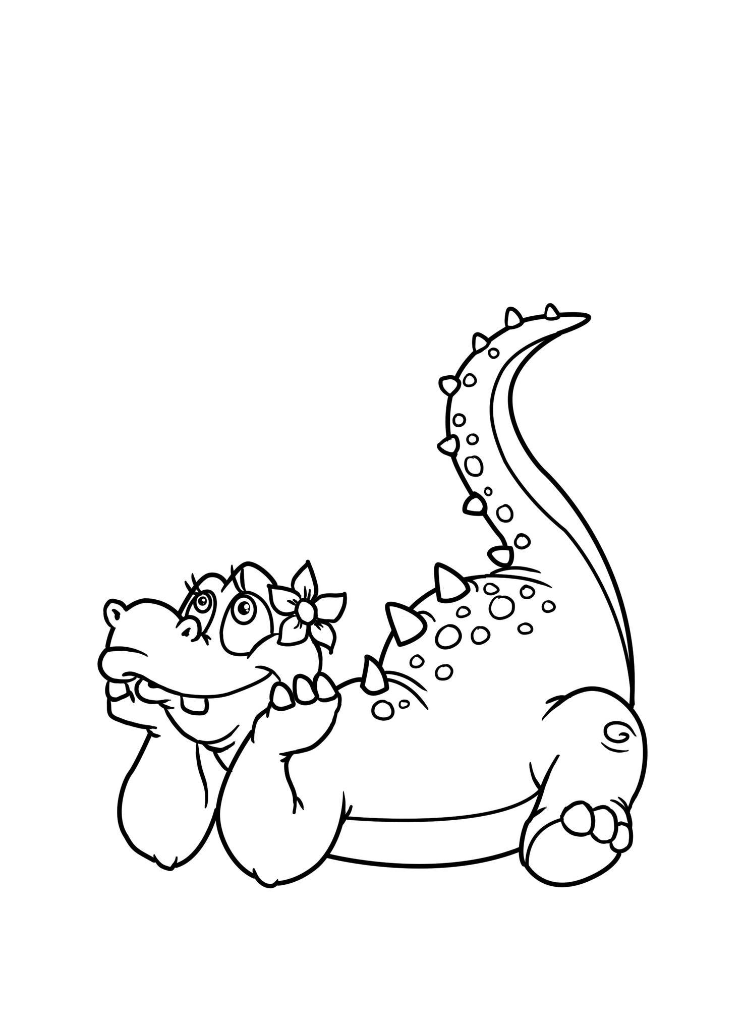 Planse De Colorat Cu Dinozauri Dinozaur Visator