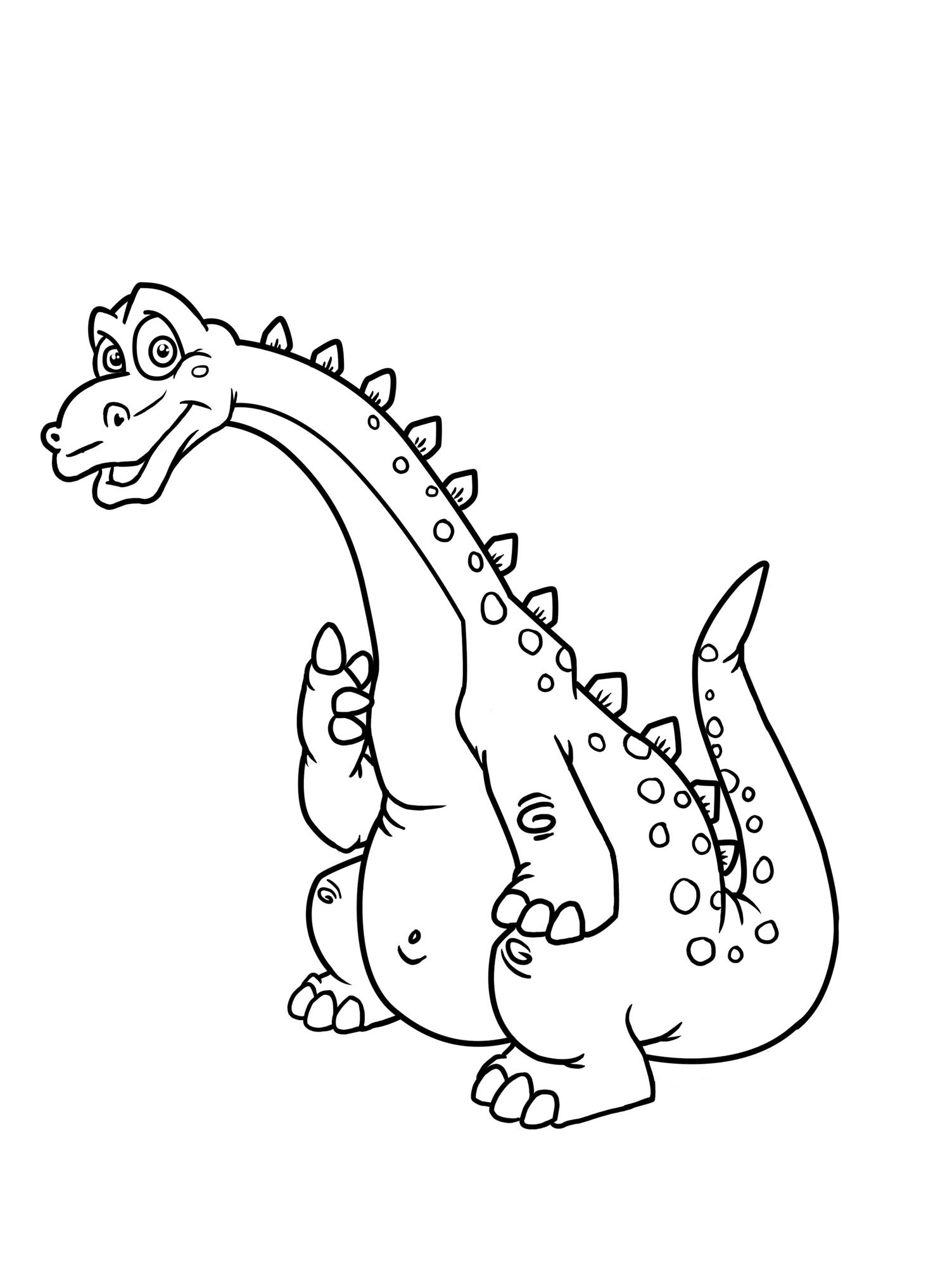 Planse de Colorat cu Dinozauri Fiorosi Planse de Colorat cu Dinozauri