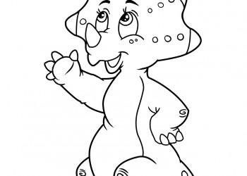 sfatulparintilor.ro planse de colorat - pui de animal preistoric