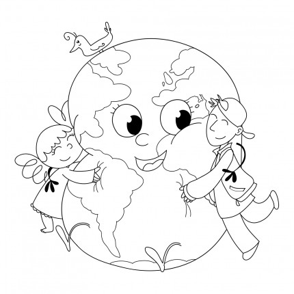 Planse De Colorat  Copii Iubitori