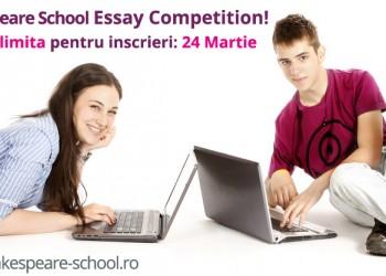 Inscrie-te la Shakespeare School Essay Competition