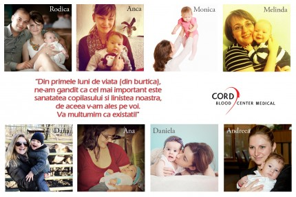 8 mamici Cord Blood Center