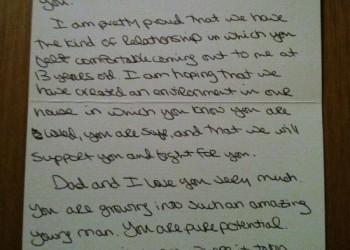 scrisoare mama homosexual