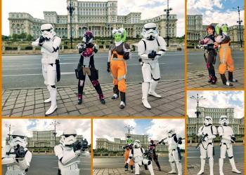 Rebeli si soldati galactici in Bucuresti