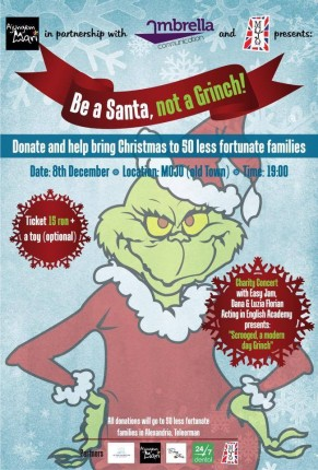 Afis concert caritabil - Be a Santa, not a Grinch