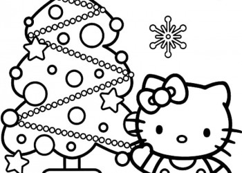 hello kitty si bradul de craciun