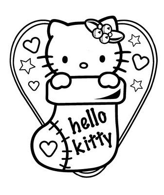 Planse Si Desene De Colorat Pentru Craciun Hello Kitty In