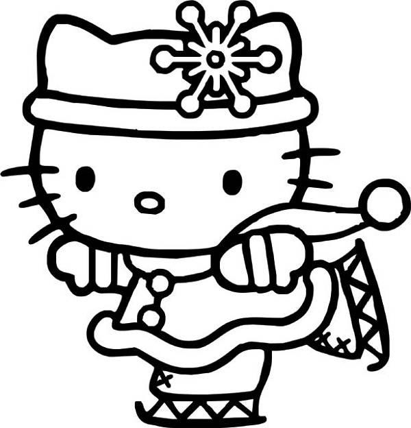 Planse Si Desene De Colorat Pentru Craciun Hello Kitty