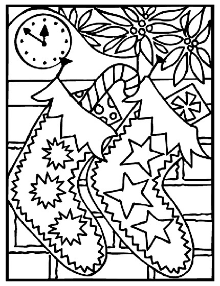 planse de colorat de Craciun