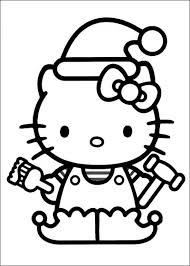 desene craciun, desene de colorat, planse de colorat, hello kitty
