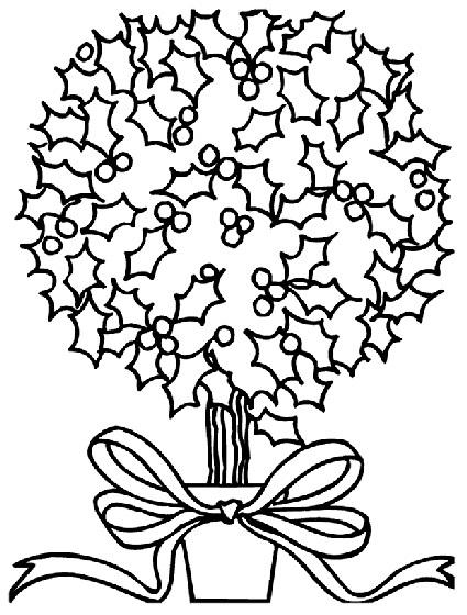 Planse Si Desene De Colorat Pentru Craciun Floare De