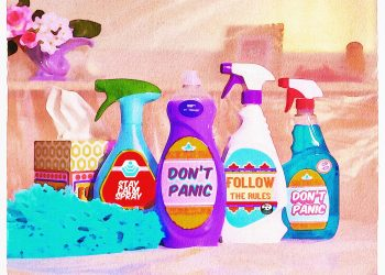 produse toxice - sfatulparintilor.ro - pixabay_com - watercolor-cleaning-products-5212714_1920