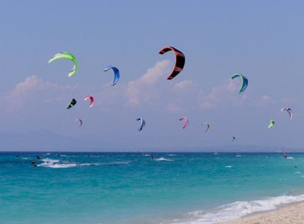 Kitesurfing-at-Agios-Ioannis-Beach1