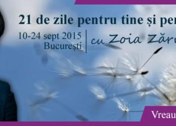 Workshop Zoia Zarnescu, 21 zile pentru tine