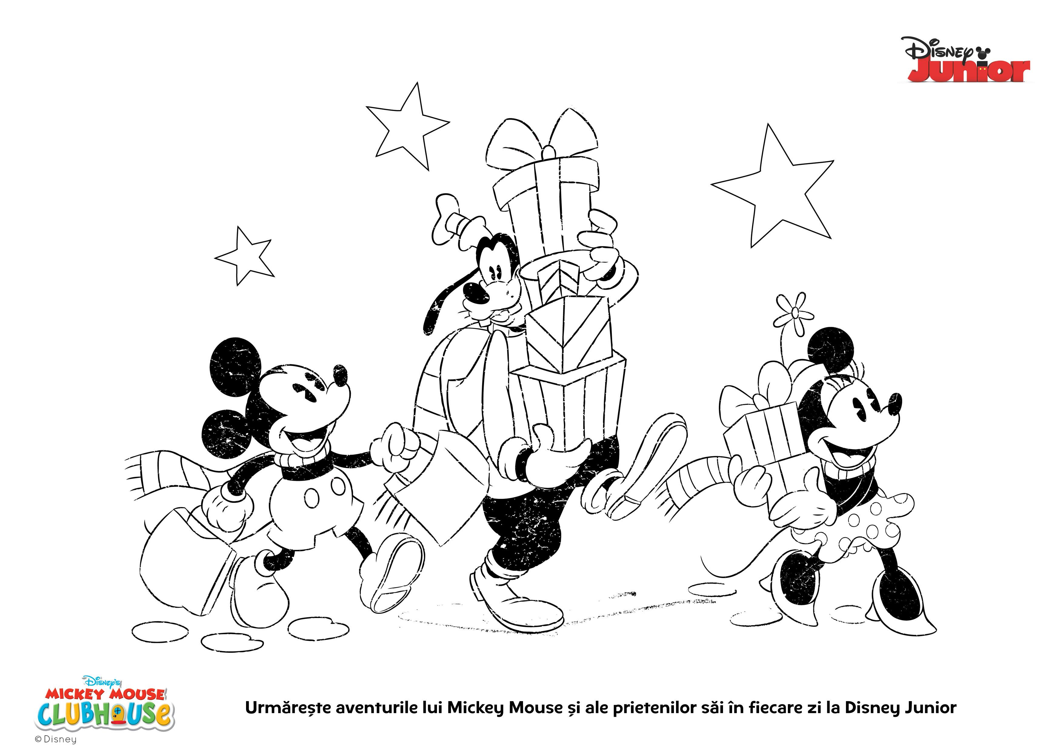 Cadou De Craciun 10 Planse De Colorat Pentru Copii