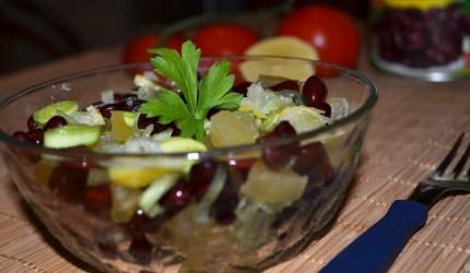 Salata de fasole rosie cu praz