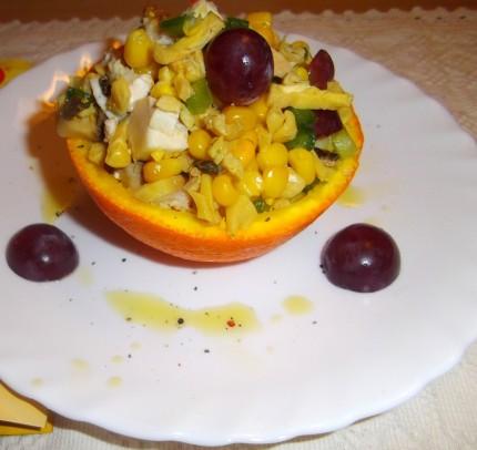 Salata de pui in portocala