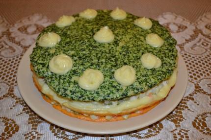 Tort aperitiv cu salata boeuf