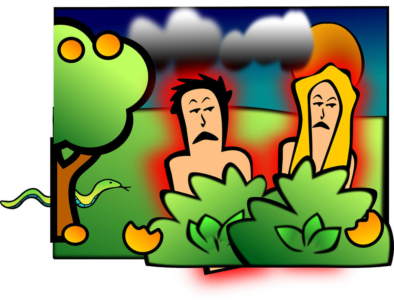 adam si eva - pacate - sfatulparintilor.ro - pixabay_com