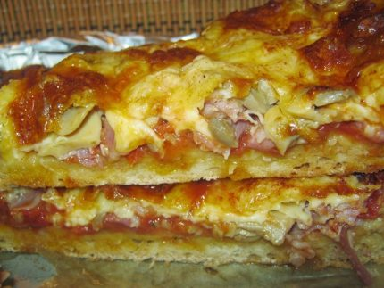 Pizza cu blat crocant