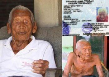 Cel mai în vârstă bărbat din lume este indonezianul Mbah Goto. El are 145 de ani şi s-a născut în 1870.