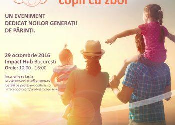 """Evenimentul """"Părinți cu Aripi, Copii cu Zbor"""" va avea loc sâmbătă, 29 octombrie, la Impact Hub București și va aborda parenting-ul dintr-o perspectivă nouă, diferită de cele de până acum"""