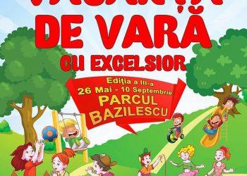 Incepand din 26 mai si pana pe 10 septembrie 2017, Teatrul EXCELSIOR va invita sa va petreceti Vacanta de Vara cu EXCELSIOR, in parcul Bazilescu din Bucuresti.