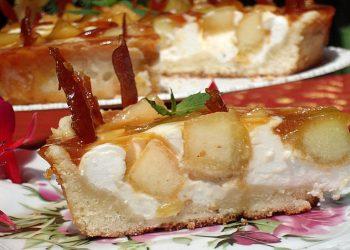Tarta cu pepene caramelizat
