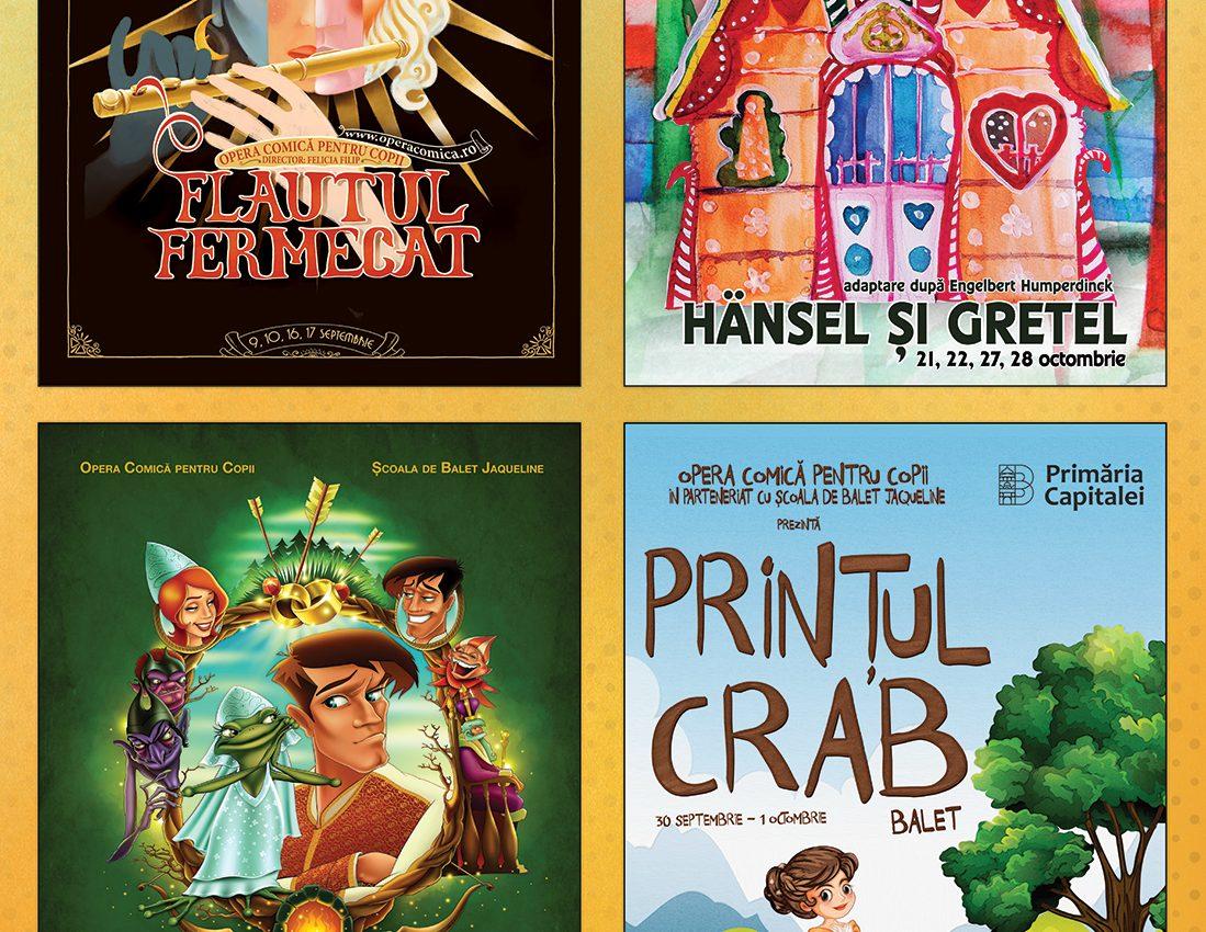 """Odată cu începerea anului școlar, Primăria Capitalei prin Opera Comică pentru Copii deschide stagiunea 2017-2018 și îi așteaptă pe cei mici cu spectacole îndrăgite din stagiunile trecute și cu premiere din toate genurile artistice. Astfel, în weekend-urile 9, 10 și 16, 17 septembrie cei mici sunt invitați la patru reprezentații ale operei """"Flautul fermecat"""" de W. A. Mozart, la Sala Mare."""