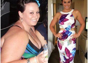 o femeie a slabit 55 de kg