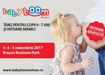 La inceput de noiembrie, parintii si piticii din Brasov, si nu numai, sunt asteptati la Baby Boom Show - Targ pentru copii 0 - 7 ani și gravide