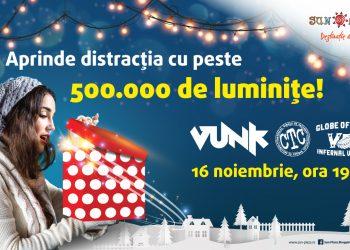 Știai că cea mai mare instalație de Crăciun indoor (de interior) din Europa se află în București? Are peste 500.000 de beculețe, se află în Sun Plaza și va fi aprinsă pe 16 noiembrie!