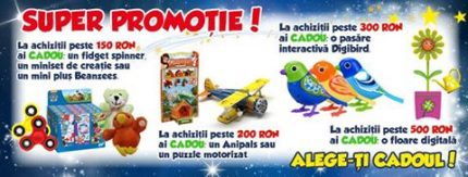 Vei gasi cele mai bune oferte pentru jucariile preferate, pe care le poti cumpara de pe site-ul Nicoro.ro sau din Magazinele Maxi Toys.