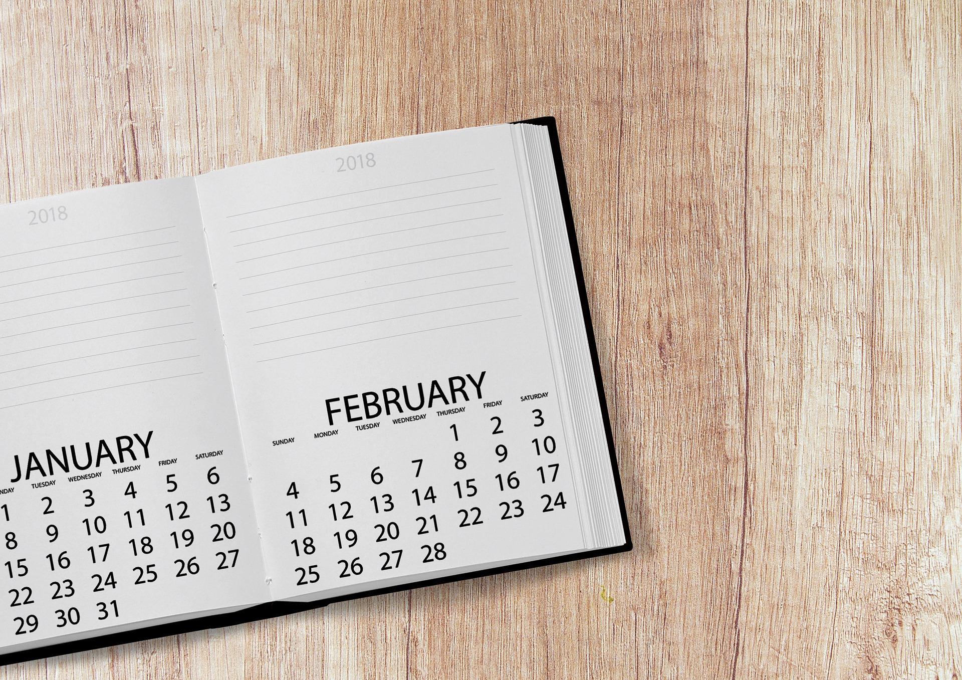 zile libere 2018 - sfatulparintilor.ro - pixabay_com - calendar-3045825_1920