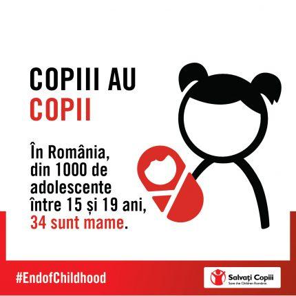 Infografic Salvati Copii - copii cu copii