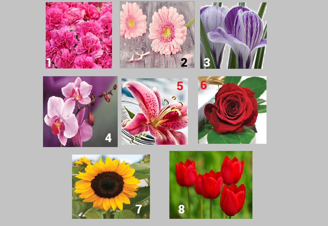 Alege o floare