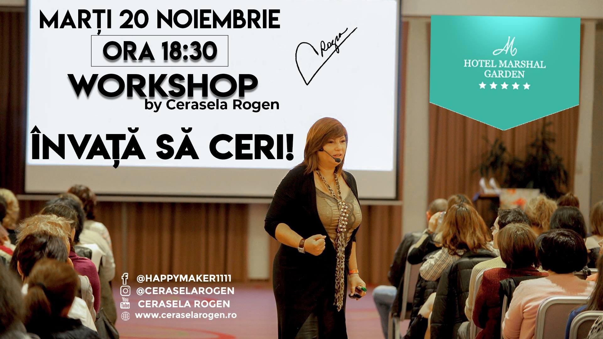 Invata sa CERI! | Workshop by Cerasela Rogen  20 noiembrie, Bucuresti